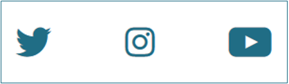 Logos von Twitter, Instagram und YouTube